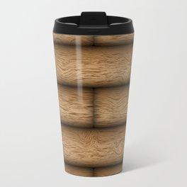 Realistic wood texture Travel Mug