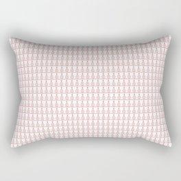 Hanging-Baubles Red Rectangular Pillow