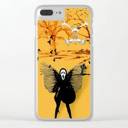 Scream Skull Horror Decor Portrait Clear iPhone Case