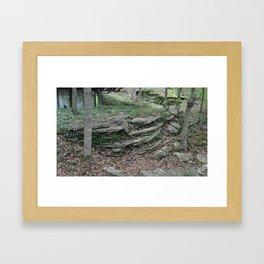 layered rocks Framed Art Print