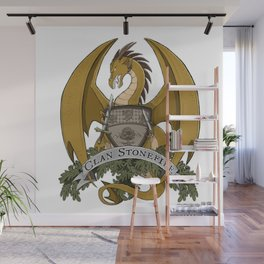 Clan Stonefire Crest - Gold Dragon Wall Mural