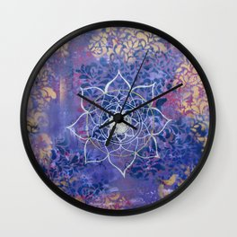 Violet Mandala Sky Wall Clock