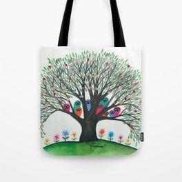 South Carolina Whimsical Owls in Tree Tote Bag