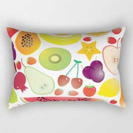 Healthy lifestyle. Fruits on white background Rectangular Pillow