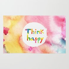 Think Happy Rug