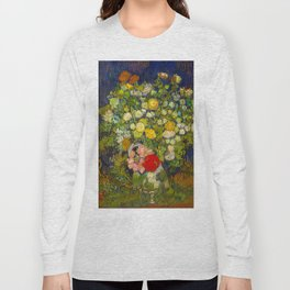 Bouquet of Flowers in a Vase Vincent van Gogh Oil on canvas 1890 Long Sleeve T-shirt