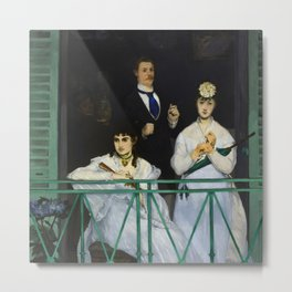 "Édouard Manet ""The Balcony"" Metal Print"