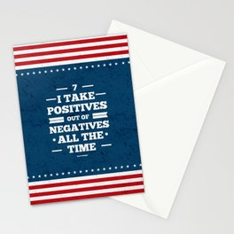Lab No.4 - 7 I Take Positives Out Of Negatives  David Wright Inspirational Quotes poster Stationery Cards