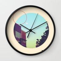 memphis Wall Clocks featuring Memphis by Anderbear