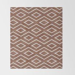Stitch Diamond Tribal in Sienna Throw Blanket