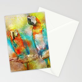 Abstract Parrots Stationery Cards