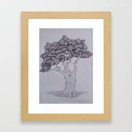 Treehouses Framed Art Print
