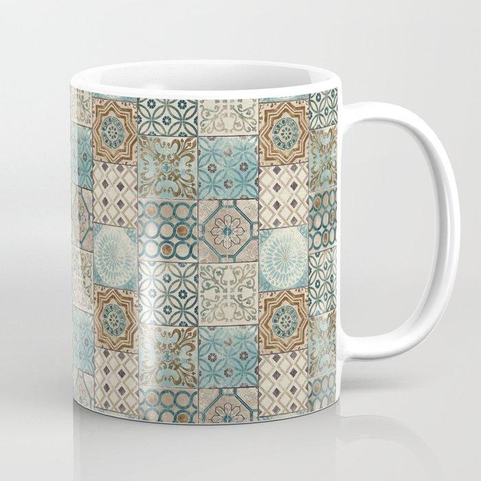 N113 - Vintage Antique Traditional Moroccan Tiles Style Artwork. Coffee Mug