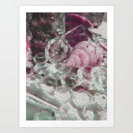Pink romance of the shiny ones Art Print