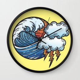 Thunder and Lightening Wall Clock