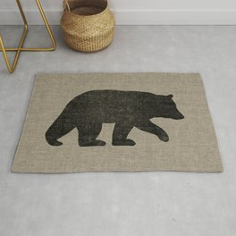 Black Bear Silhouette Rug