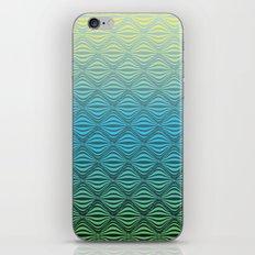 Warp Field (Blue Yellow Green) iPhone & iPod Skin