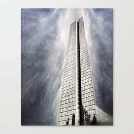 Boston [Sky cut 410] Massachussets, Usa Canvas Print