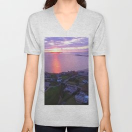 Napatree Point Sunset - Watch Hill - Westerly, Rhode Island Unisex V-Neck