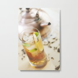 Ice tea. Metal Print