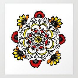Doodle Mandala Art Print