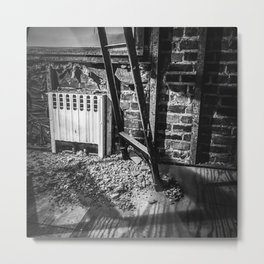 Dorchester, Down to the Studs / Black & White Metal Print