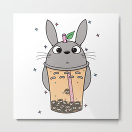 To-taro Bubble Tea Metal Print