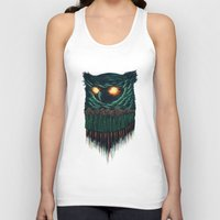 owl Tank Tops featuring owl by itssummer85