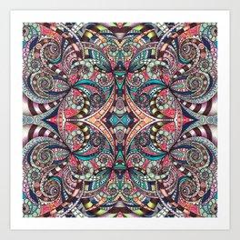 Drawing Floral Zentangle G237 Art Print