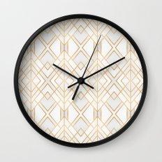 Golden Geo Wall Clock