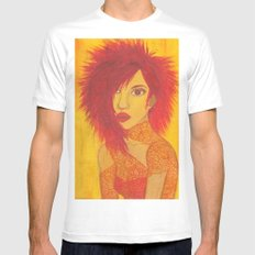 Fire Style Mens Fitted Tee MEDIUM White
