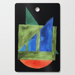 180818 Inverted Geometrical Watercolour 2| Colorful Abstract | Modern Watercolor Art Cutting Board