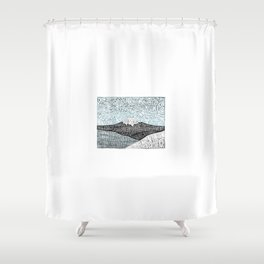 'JaPow' by Sarah King  Shower Curtain