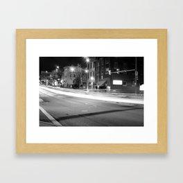Lights On Second And Penn Framed Art Print