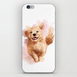 Golden Retriever Puppy iPhone Skin