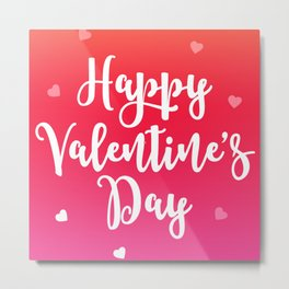 Happy Valentine's Day Hearts Metal Print