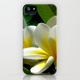 White summer Flowers by Lika Ramati iPhone Case