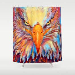 Bald Eagle Watercolor Shower Curtain