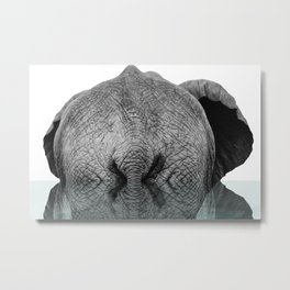 Elephant Backside Metal Print