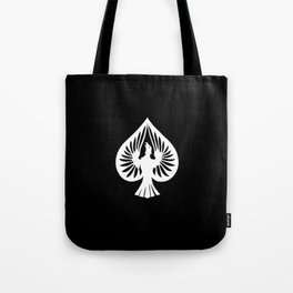 White Phoenix Ace of Spades Tote Bag