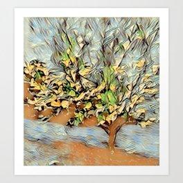 Mom's Bradford Pear Tree Art Print