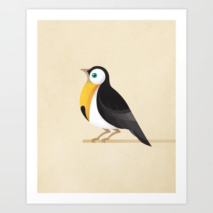 A Robin or a Toucan Bird? Art Print