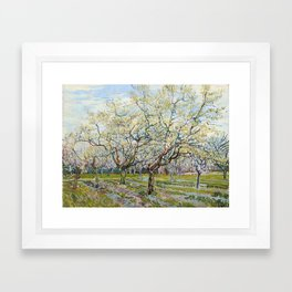 The White Orchard by Vincent van Gogh Framed Art Print