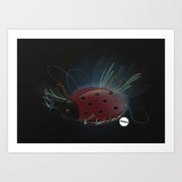 Miss Ladybug Art Print