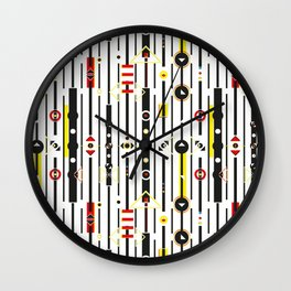 Punky retro graphic Wall Clock