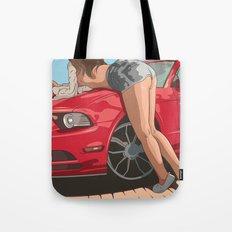 Girl & car II Tote Bag