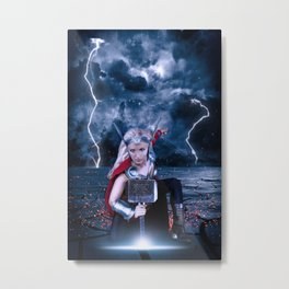 Female Thor Metal Print