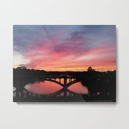 Crimson Bridge Metal Print