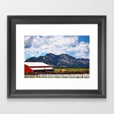 Flat Irons Framed Art Print