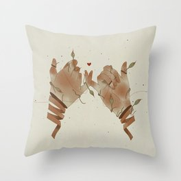 Red String of fate Throw Pillow